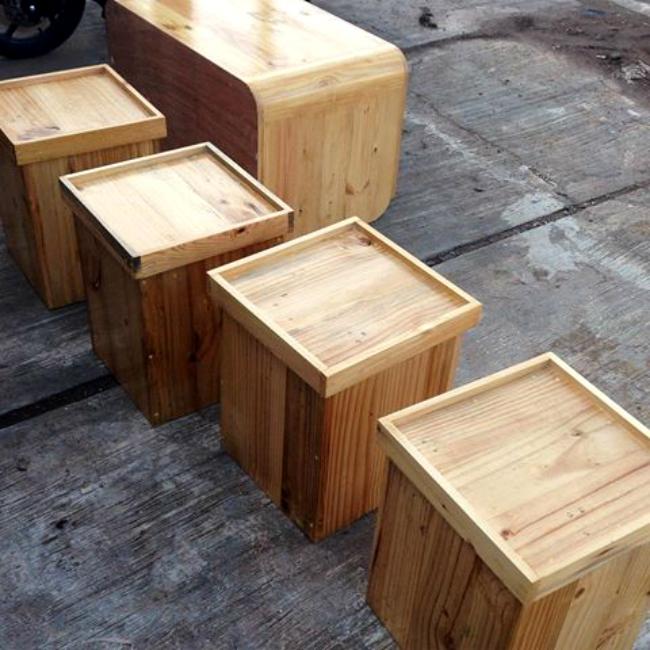 Ide Kreatif Kerajinan dari Limbah Kayu Palet (Jati Belanda) Boxes