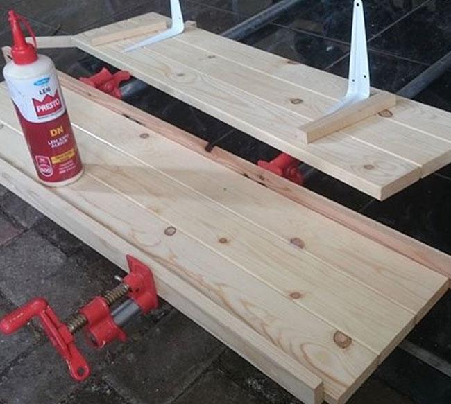 Menyambung kayu menggunakan lem presto dn