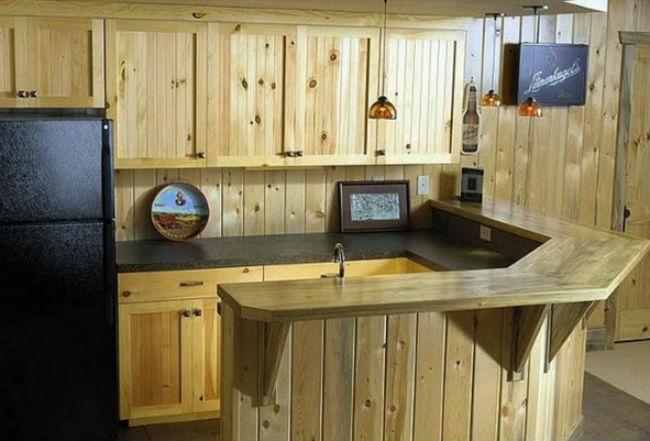 Desain Mini Bar Dapur Minimalis Kayu Jati Belanda