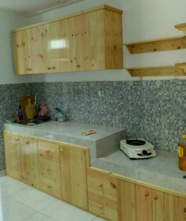 Kitchen Set bahan Kayu Jati Belanda