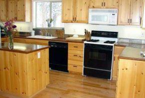 Kitchen Set dari Kayu Jati Belanda