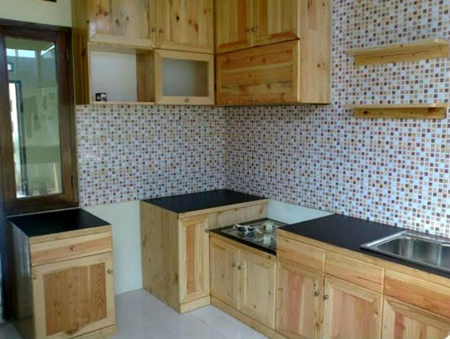 Model Kitchen Set Kayu Jati Belanda