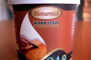 Biovarnish Wood Stain Cat Kayu Transparan Water Based