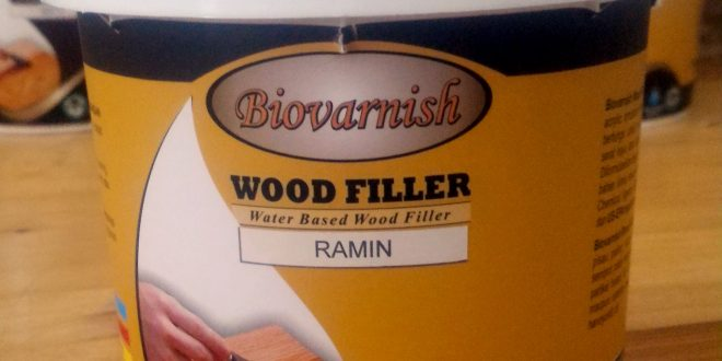 Dempul Kayu Transparan Water Based - Biovarnish Wood Filler
