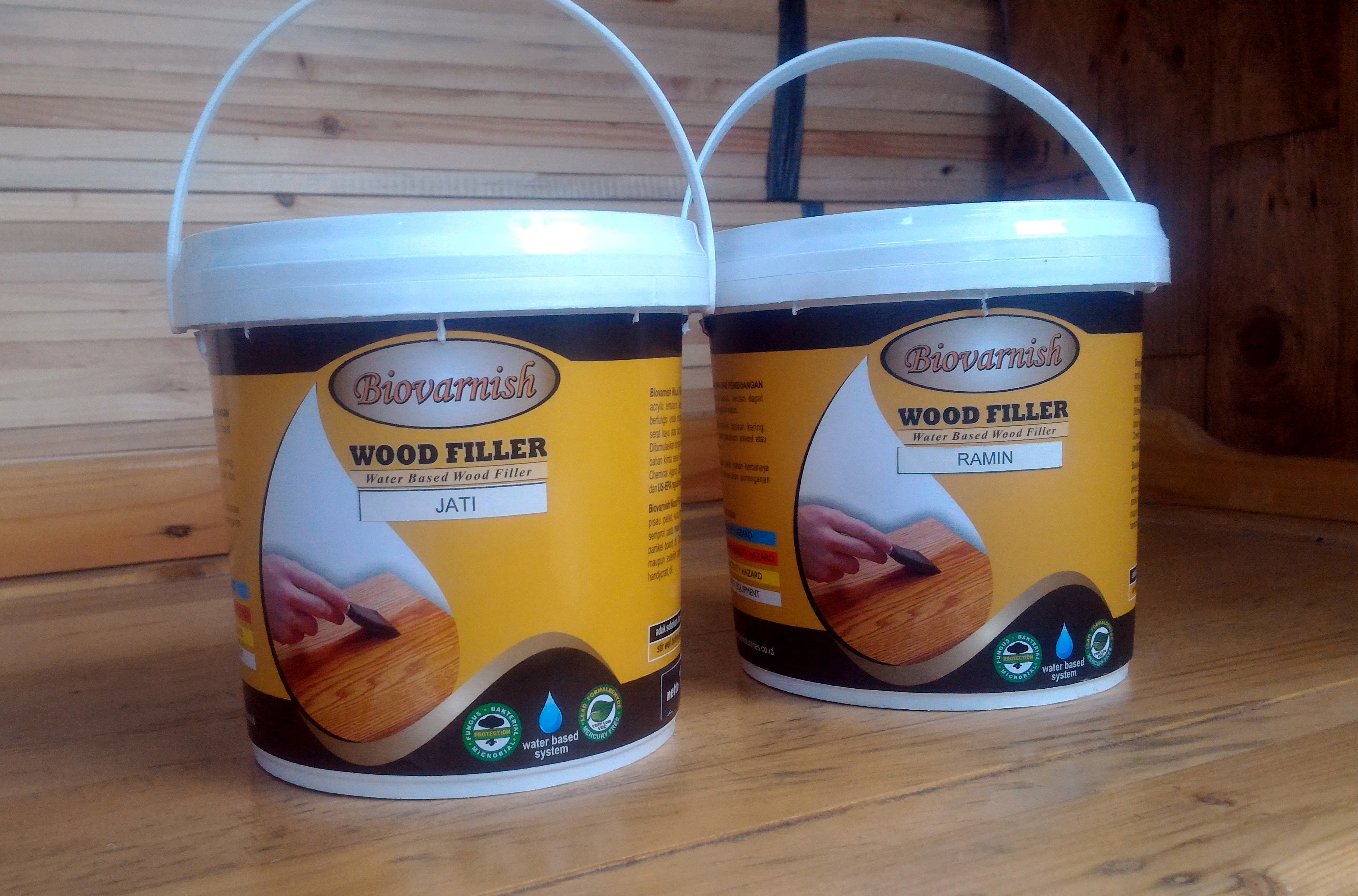 Dempul Kayu Transparan Water Based Biovarnish Wood Filler
