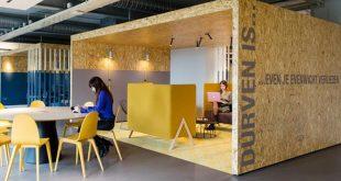 Contoh Desain Interior Ruangan Kantor - OSB Board